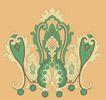 饰角素材0067,饰角素材,纹理边框,着色 绿色 底纹