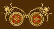饰角素材0068,饰角素材,纹理边框,一对 铜质 圆牌