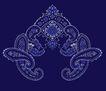 饰角素材0074,饰角素材,纹理边框,深蓝 边角 纹饰