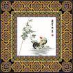 饰角素材0091,饰角素材,纹理边框,国画 公鸡 新年