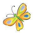 PSD花纹10038,PSD花纹1,花纹图案,花色 绿体 飞蝶