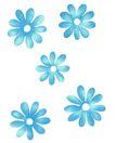 PSD花纹10046,PSD花纹1,花纹图案,蓝花 白色 花芯