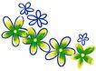 PSD花纹10057,PSD花纹1,花纹图案,水彩 绿花 排队