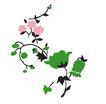 PSD花纹10069,PSD花纹1,花纹图案,绿叶 浅花 朴素