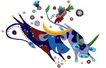 PSD花纹10074,PSD花纹1,花纹图案,小牛 奔跑 扫尾