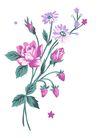 PSD花纹30062,PSD花纹3,花纹图案,紫色 小型 玫瑰苞