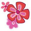 PSD花纹30105,PSD花纹3,花纹图案,通红 模糊 花影