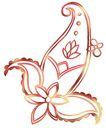 PSD花纹40060,PSD花纹4,花纹图案,花苞 形状 紧合