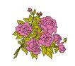 PSD花纹40101,PSD花纹4,花纹图案,描摹 花簇 图形