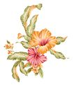 PSD花纹50058,PSD花纹5,花纹图案,暖色 大叶 遮掩