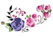 PSD花纹60068,PSD花纹6,花纹图案,完美 花艺 培育