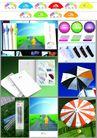 轻工日杂0016,轻工日杂,行业平面模板,彩色 阳伞 款式