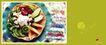 餐饮0023,餐饮,行业平面模板,美味 拼盆 素菜