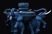 PSD雕塑40020,PSD雕塑4,雕塑,象 国家保护动物 石桌