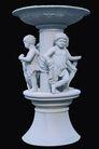 PSD雕塑60013,PSD雕塑6,雕塑,孩子 围绕 柱周