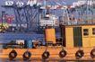 码头货轮0009,码头货轮,工业,船壁 捆绑 轮胎