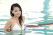 女性休闲0011,女性休闲,休闲,水波 休息 泳池
