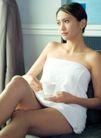 女性休闲0043,女性休闲,休闲,裹着浴巾