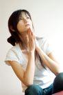 女性休闲0053,女性休闲,休闲,思考 少女 T恤