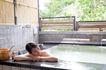 温泉休闲0013,温泉休闲,休闲,竹墙 树林 浴池