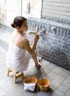 温泉休闲0053,温泉休闲,休闲,小矮凳 木桶 淋浴