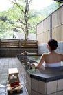 温泉休闲0055,温泉休闲,休闲,浴池 木屐 女子背影