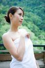 温泉休闲0059,温泉休闲,休闲,洁白肌肤 包着浴巾 头发盘起