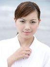 美丽SPA0052,美丽SPA,休闲,清秀女人 准备SPA 白浴袍