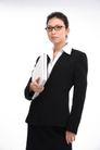 女性上班族0006,女性上班族,商业,怀抱 白色 笔记本