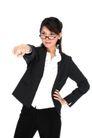女性上班族0009,女性上班族,商业,生气 插腰 怒指