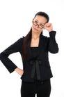 女性上班族0013,女性上班族,商业,拳头 顶触 太阳穴