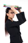 女性上班族0019,女性上班族,商业,扣头 斜视 遮掩