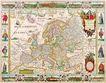 古老的地图0034,古老的地图,静物,古欧地图 古代欧洲 国界分布