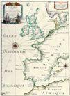 古老的地图0036,古老的地图,静物,葡萄牙 西班牙 航海图