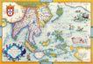 古老的地图0048,古老的地图,静物,彩色地图
