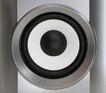 音响视听0075,音响视听,静物,银色 喇叭 黑环