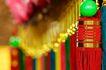 东方民俗庙宇0014,东方民俗庙宇,文化,红绸 垂落 绿珠