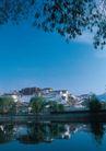 西藏风光0032,西藏风光,文化,布达拉宫 湖泊倒影 远景