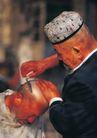 西藏风光0042,西藏风光,文化,剃刀 剃头 人物