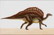 恐龙插画0076,恐龙插画,装饰小品,拱起 背部 剑龙