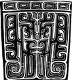 原始社会0669,原始社会,中国古图案,