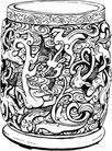 元明时代1384,元明时代,中国古图案,