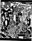 元明时代1387,元明时代,中国古图案,
