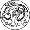 元明时代1390,元明时代,中国古图案,