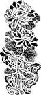 清代0001,清代,中国古图案,秋菊
