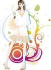 人物0105,人物,东方设计元素,时尚 纯白 披衣