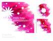 包装0040,包装,东方设计元素,雪花 光碟套装 粉红
