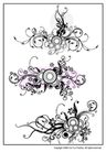 花纹0182,花纹,东方设计元素,藤叶 卷曲 叶条