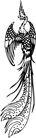 古典矢量花纹0001,古典矢量花纹,中国古典画,黑白 飞舞 凤凰