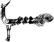 古典矢量花纹0013,古典矢量花纹,中国古典画,爪子 脖子 尾巴